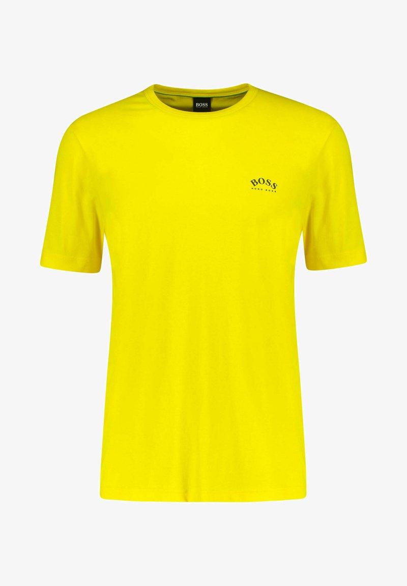 BOSS - TEE CURVED - Basic T-shirt - gelb