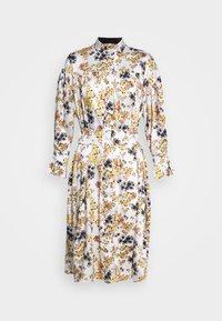 Victoria Victoria Beckham - TIE SLEEVE DRESS - Shirt dress - ditsy mustard - 7