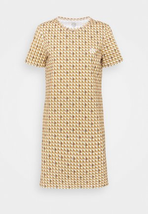 BASKETWEAVE DRESS - Triko s potiskem - buttermilk