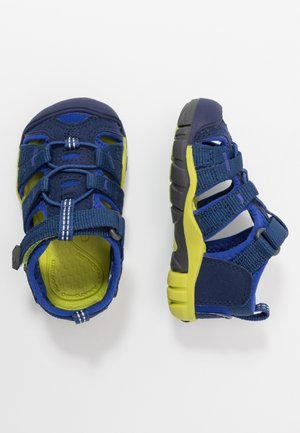 SEACAMP II CNX - Walking sandals - blue depths/chartreuse