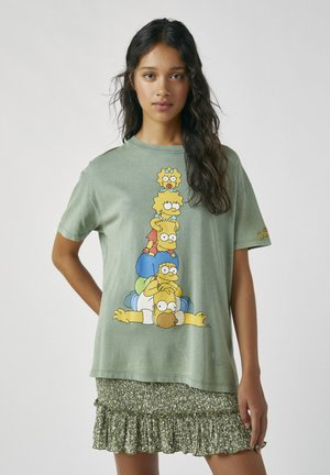 DIE SIMPSONS - T-shirt con stampa - green