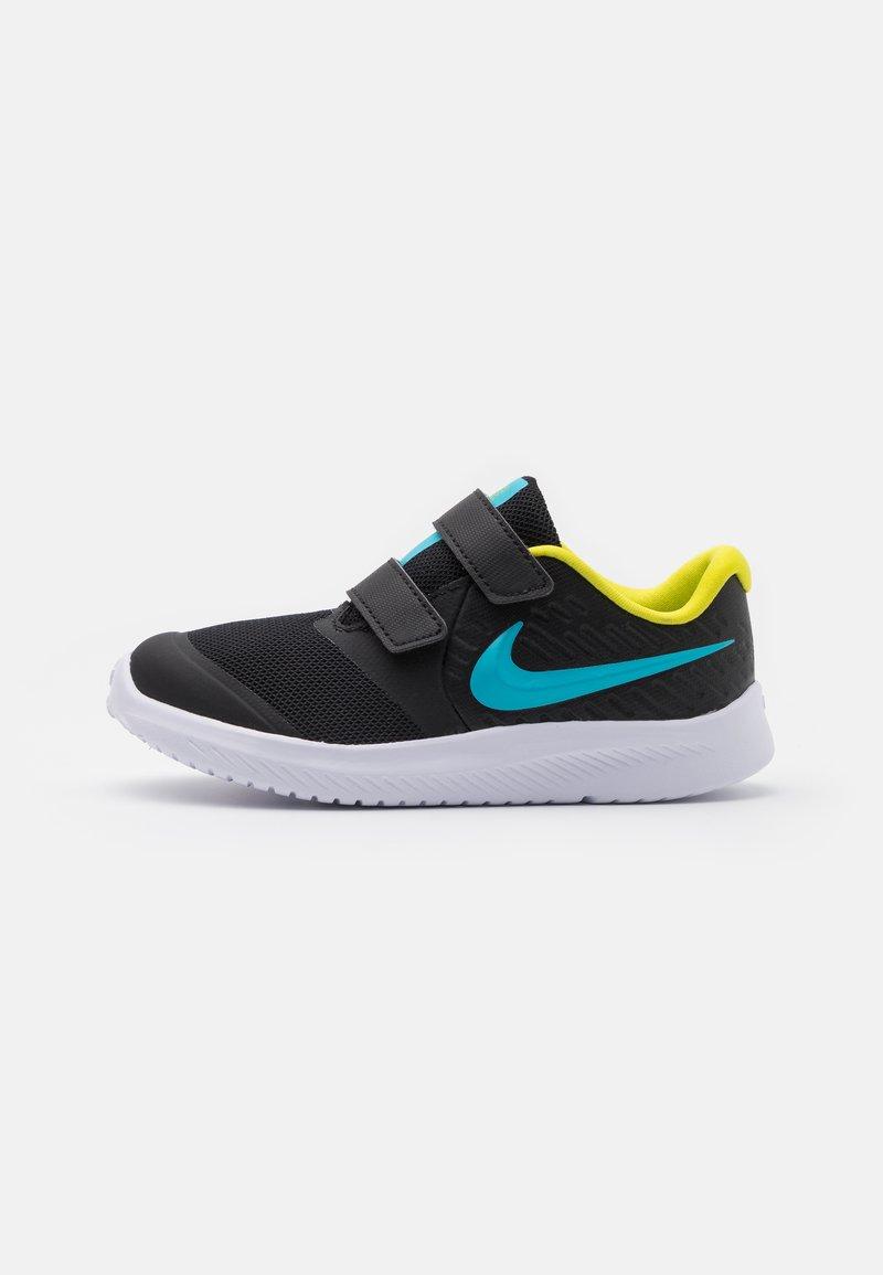 Nike Performance - STAR RUNNER 2 UNISEX - Hardloopschoenen neutraal - black/chlorine blue/high voltage/white