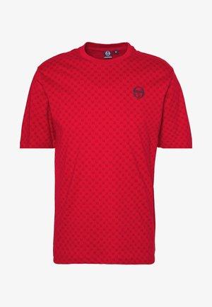 DIN  - Print T-shirt - apple red/navy