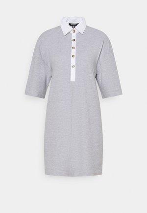 WAFFLE DRESS - Košilové šaty - grey