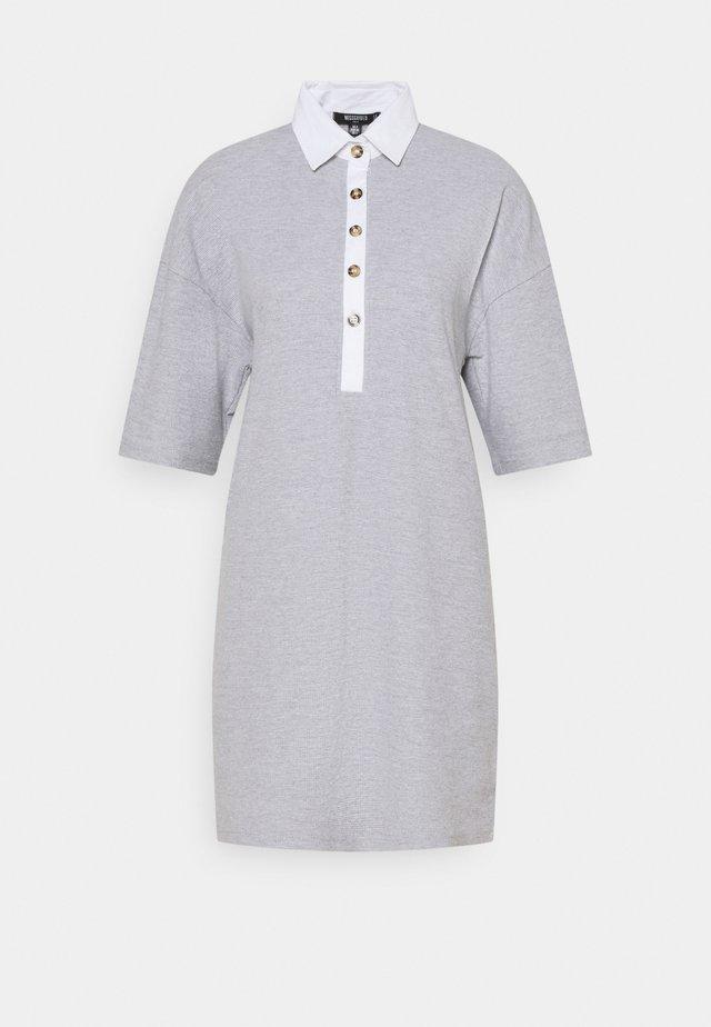 WAFFLE DRESS - Shirt dress - grey