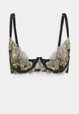 ARIA PLUNGE BRA - Underwired bra - black/gold