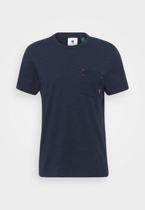 CONTRAST MERCERIZED PKT R T S\S - Basic T-shirt - sartho blue
