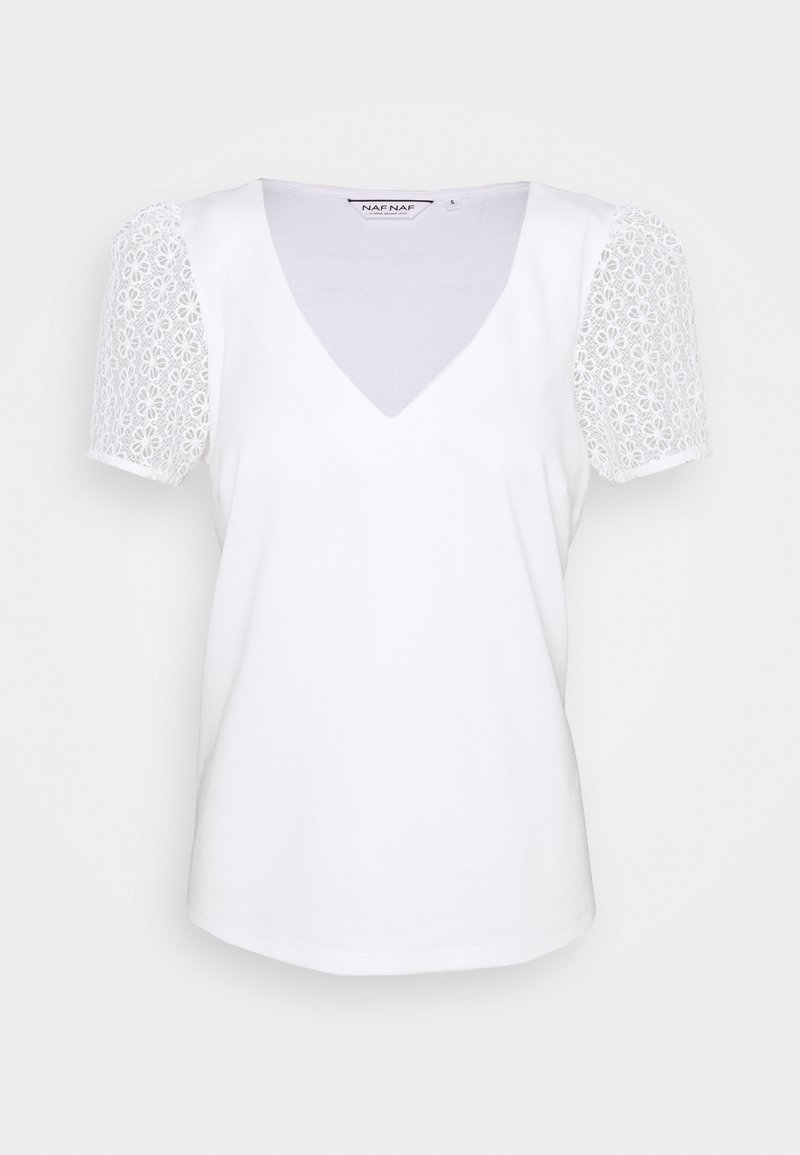 NAF NAF - MILANO - T-shirt imprimé - ecru
