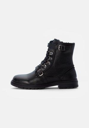 LEATHER BOOTIES  - Veterboots - black