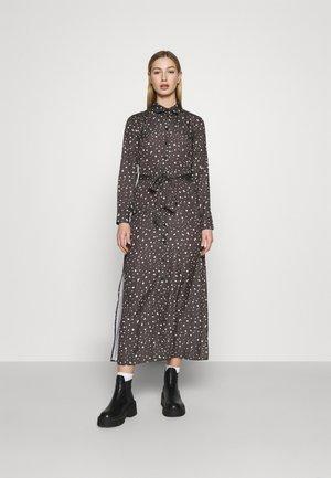 BELTED DRESS - Maxi dress - dark grey