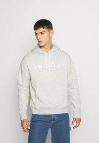 Nike Sportswear - HOODIE - Huppari - grey heather/white - 0