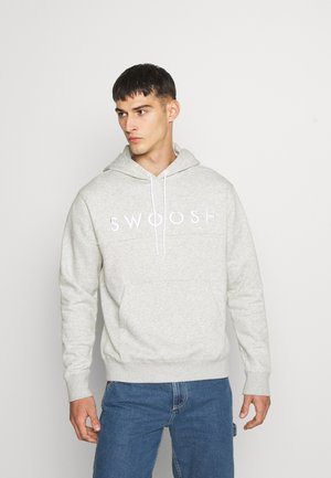 HOODIE - Jersey con capucha - grey heather/white