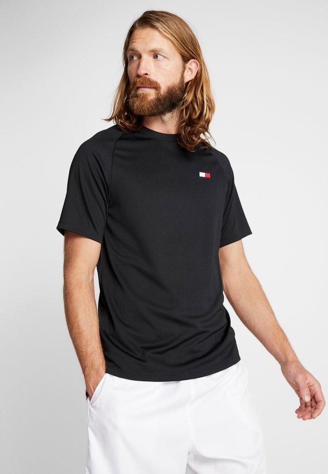 BACK LOGO - T-shirt con stampa - black