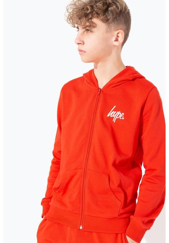 MINI SCRIPT - Zip-up hoodie - red