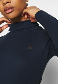 G-Star - XINVA SLIM TURTLE LONG SLEEVE C - Long sleeved top - sartho blue - 4