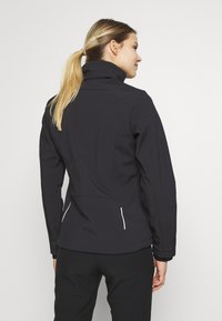 CMP - WOMAN JACKET ZIP HOOD - Soft shell jacket - antracite/bouganville - 3