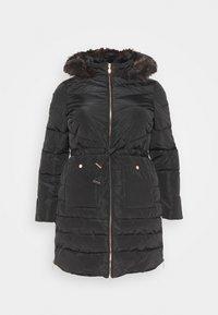 CAPSULE by Simply Be - LUXE LONGLINE PADDED COAT - Winter coat - black - 4