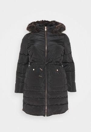 LUXE LONGLINE PADDED COAT - Vinterkåpe / -frakk - black