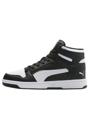 PUMA REBOUND LAY UP TRAINERS UNISEX - Korkeavartiset tennarit - puma black-puma white