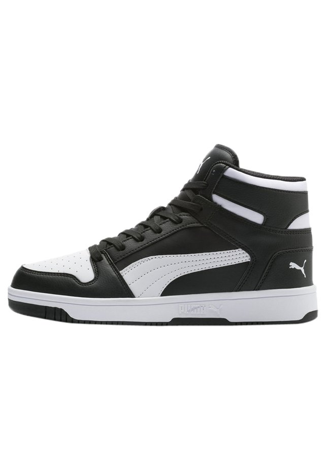 PUMA REBOUND LAY UP TRAINERS UNISEX - High-top trainers - puma black-puma white