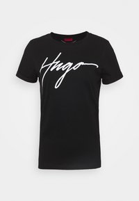 HUGO - THE SLIM TEE - Print T-shirt - black
