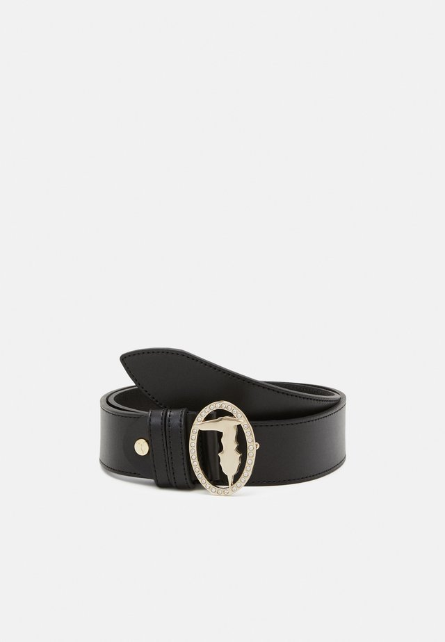 BELT OVALE SMOOTH - Ceinture - black