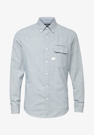 BRISTUM FLAP BTTN SLIM - Overhemd - sun faded indigo stripe