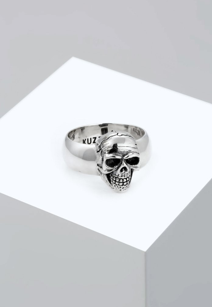 KUZZOI - TOTENKOPF - Ring - silver-coloured
