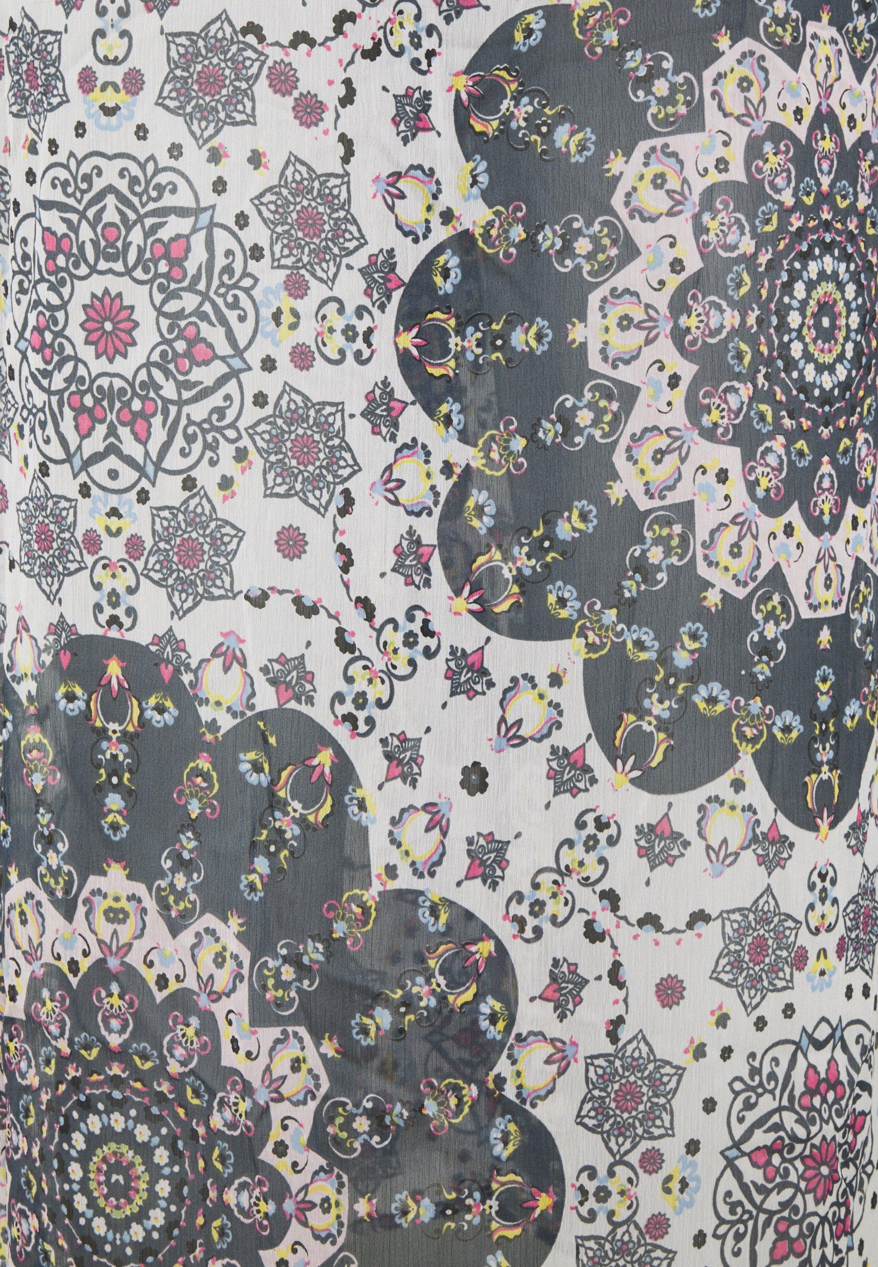 Simply Be RUFFLE FRONT KIMONO Freizeitkleid multicoloured/mehrfarbig