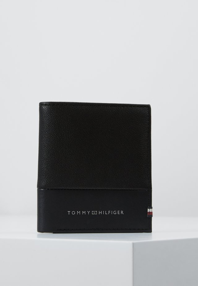 TEXTURED TRIFOLD - Portefeuille - black
