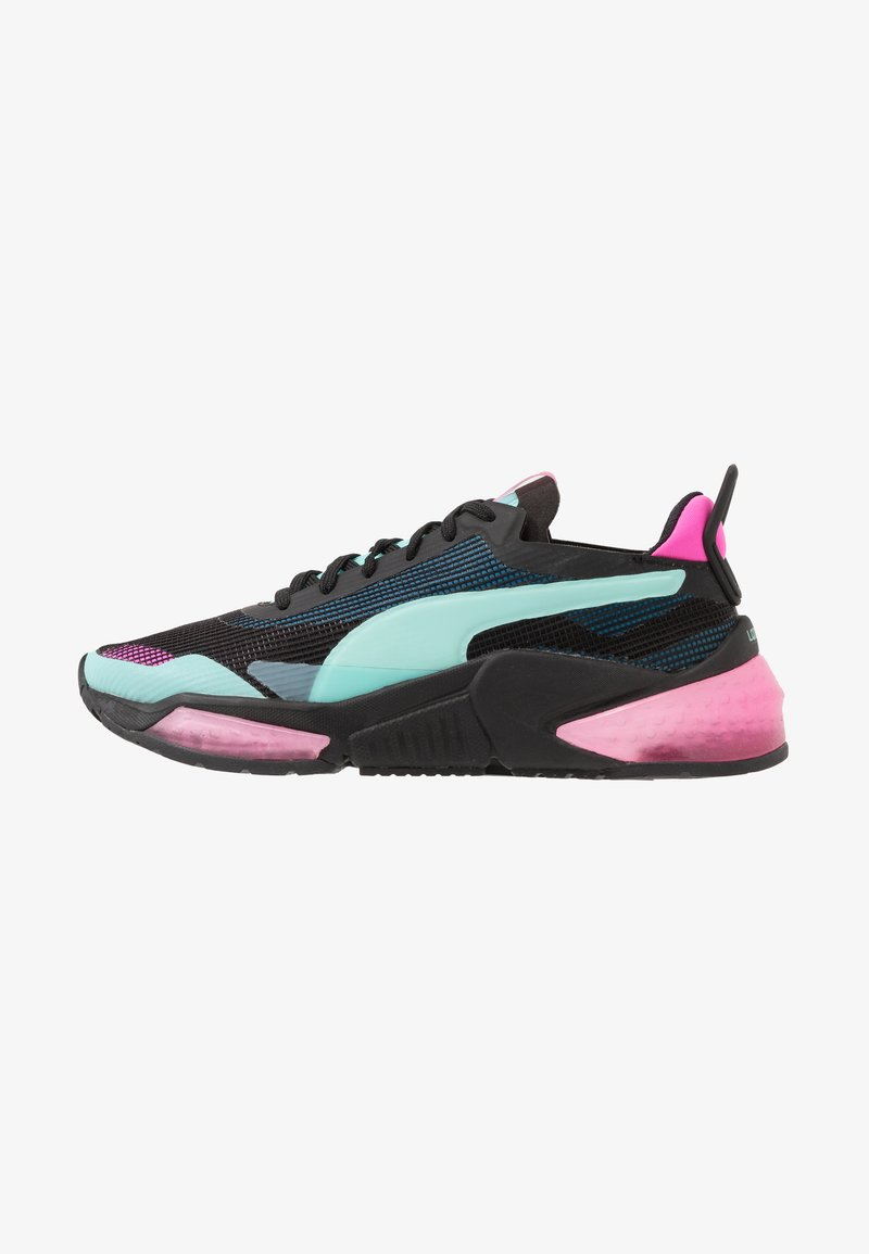 Puma - LQDCELL OPTIC XI  - Obuwie do biegania treningowe - black/aruba blue/luminous pink