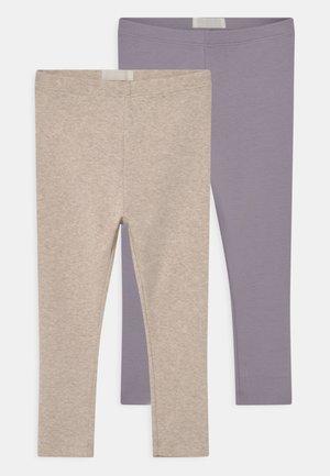 2 PACK UNISEX - Leggings - Trousers - lilac/oatmelange