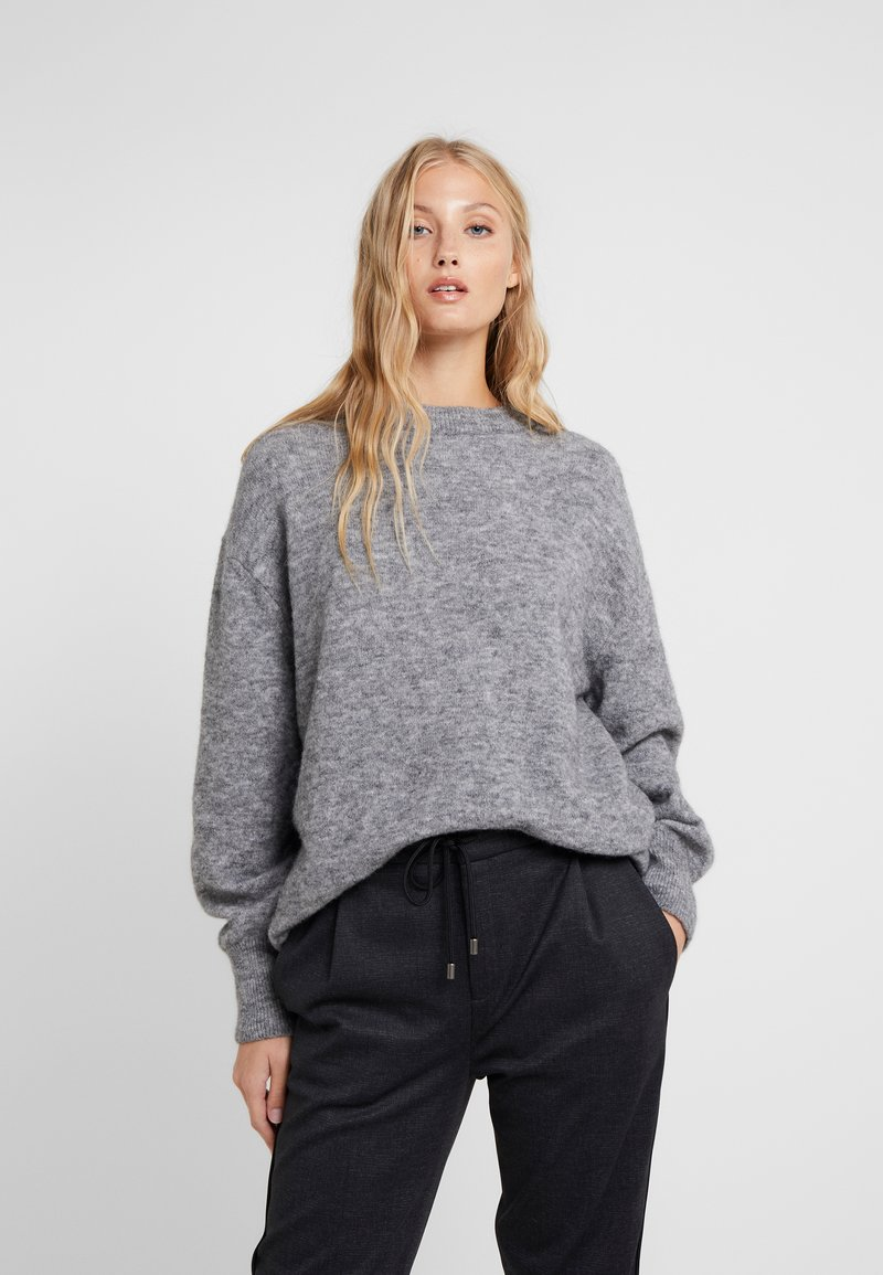 CLOSED - Pullover - grey heather melange