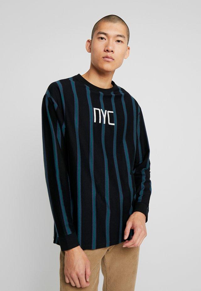VERTICAL STRIPE TEE  - Pitkähihainen paita - black