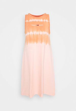 SUMMER TIE DYE TANK DRESS - Robe d'été - sweet peach/multi
