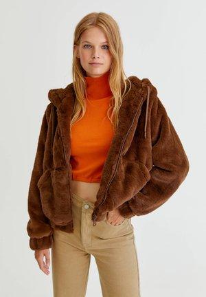 MIT KAPUZE - Zimní bunda - brown