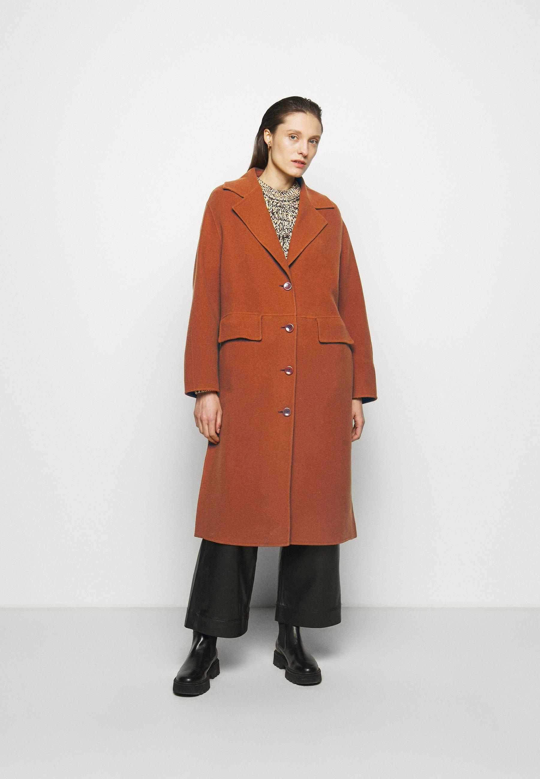 Femme DOUBLEFACE COAT WITH SIDE SLITS - Manteau classique