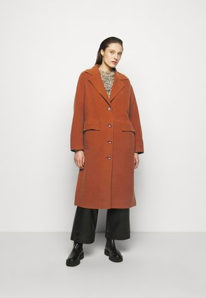 DOUBLEFACE COAT WITH SIDE SLITS - Classic coat - chestnut