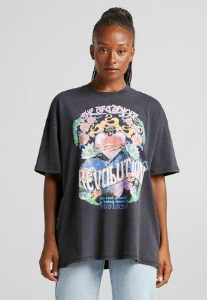 MIT HERZPRINT - Print T-shirt - dark grey