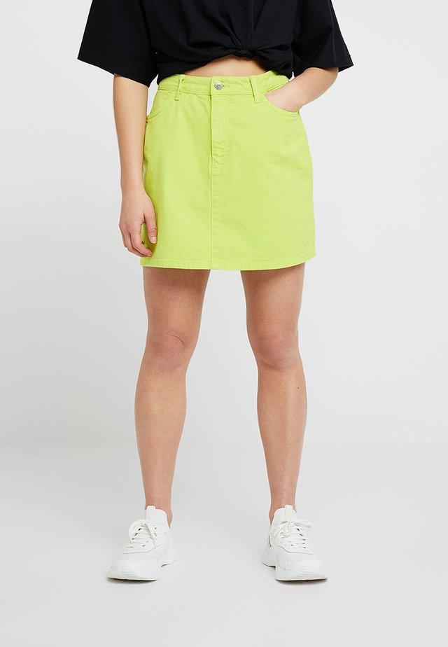 Áčková sukně - lime as per swatch