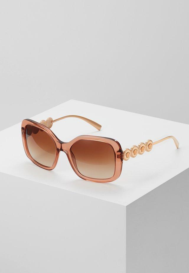 Sonnenbrille - transparent/brown