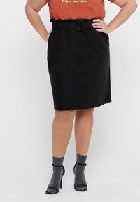 ONLY Carmakoma - CURVY  - A-line skirt - black - 0
