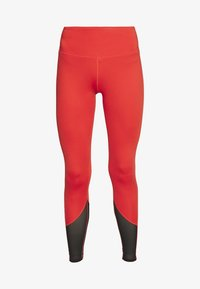 Wolf & Whistle - EXCLUSIVE LEGGINGS WITH PANELS - Leggings - red - 2