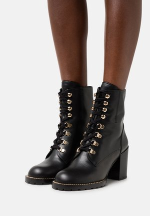 KOLBIE BLOCK BOOTIE - Lace-up ankle boots - black