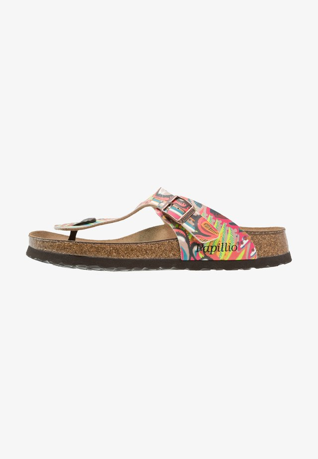 GIZEH - T-bar sandals - african/raspberry