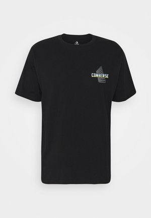 FIRST TO FLY GRAPHIC - Print T-shirt - black