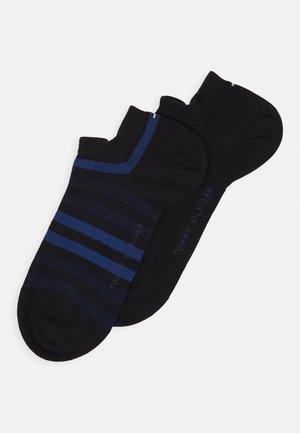 MEN DUO STRIPE SNEAKER 2 PACK - Trainer socks - dark navy
