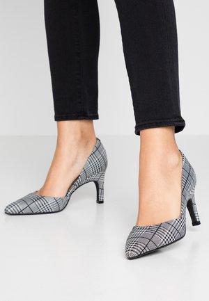 SALANA ANACONDA - Classic heels - black/white
