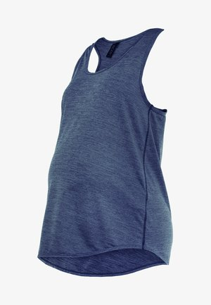 MATERNITY TRAINING TANK - Sports shirt - dark indigo marle