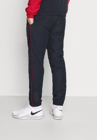 Lacoste Sport - TRACKSUIT - Träningsset - ruby/navy blue/white - 4